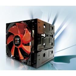 Xigmatek 4 in 3 HDD Cage With 12CM LED Fan CCA-EMFCB-U01