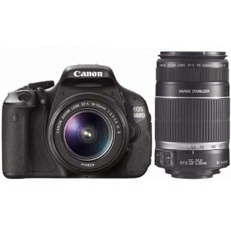 Canon EOS 600D Kit III EF S18-55 IS II dan EF S55-250 IS II