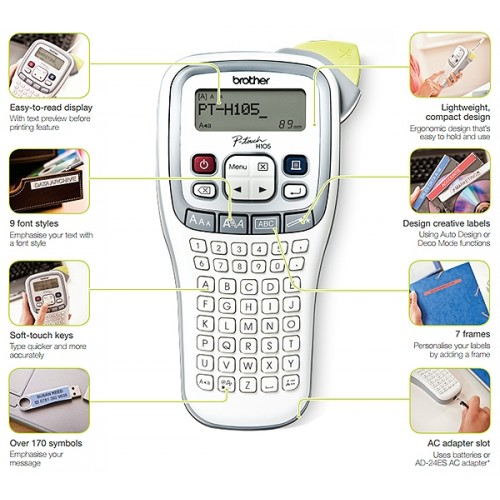 brother p touch h105 instructions