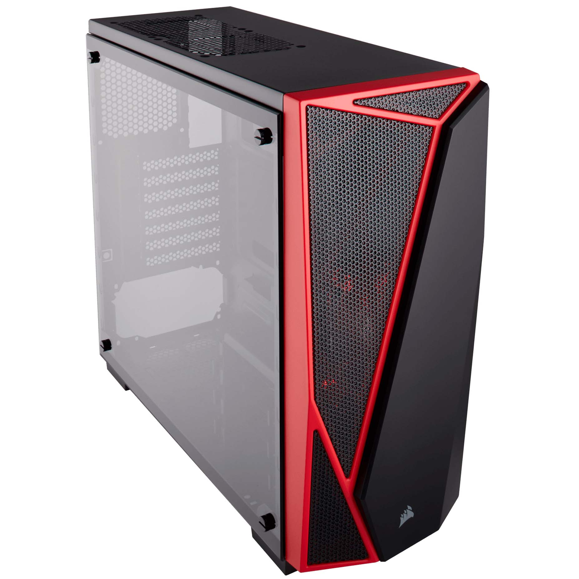 Harga Jual Corsair CC-9011117-WW Carbide Series SPEC-04 Tempered Glass Mid-Tower Gaming Case-Black-Red_1
