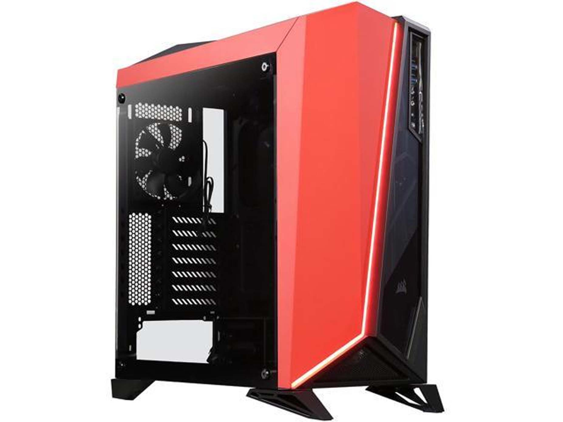 Harga Jual Corsair CC-9011120-WW Carbide Series SPEC-OMEGA Tempered Glass Mid-Tower ATX Gaming Case-Black-Red