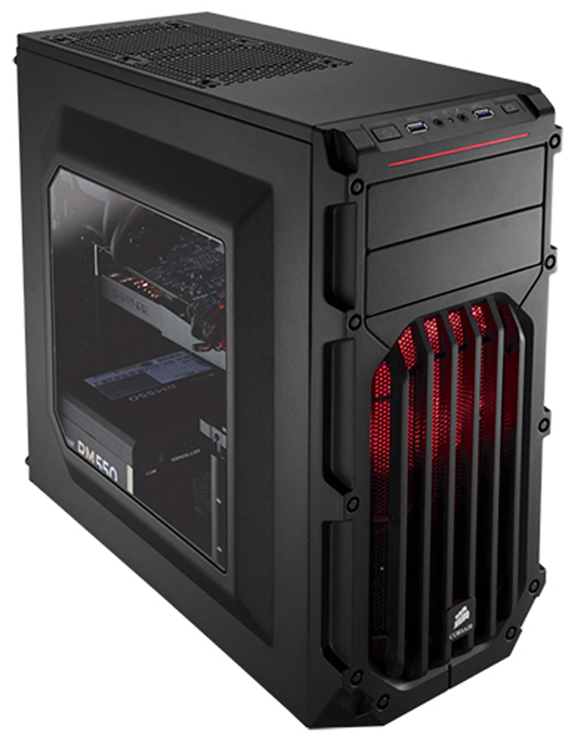 Harga Jual Corsair CC-9011052-WW Carbide Series SPEC-03 Red LED Mid-Tower Gaming Case