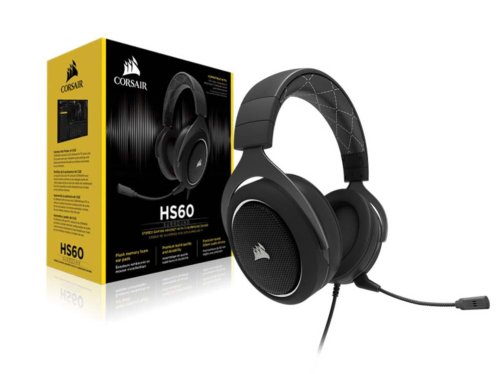 Hatga Jual Corsair CA-9011174-NA HS60 Surround Gaming Headset-White