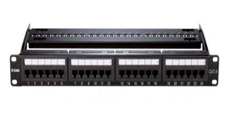 Harga jual D-Link NPP-C61BLK241 24 Port Cat6 UTP Fully -Black Color