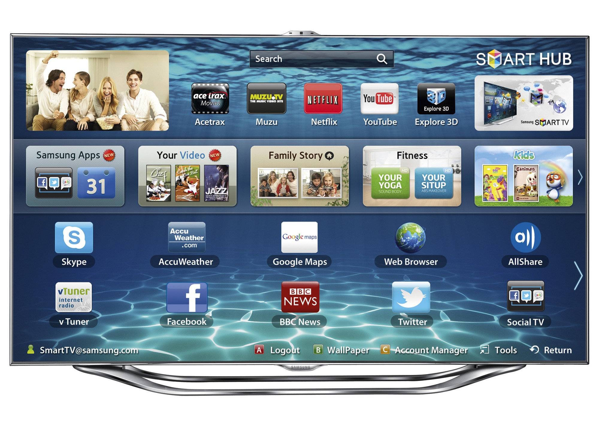 Harga samsung smart tv slim led es8000 rp. 40.934.000