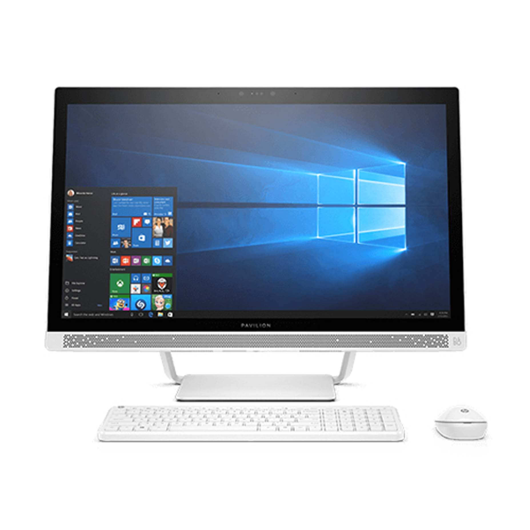 Harga HP Pavilion 24-R176D All-in-One PC Intel Core i7-8700T 4GB 2TB Win10 Home 23.8Inch Touch