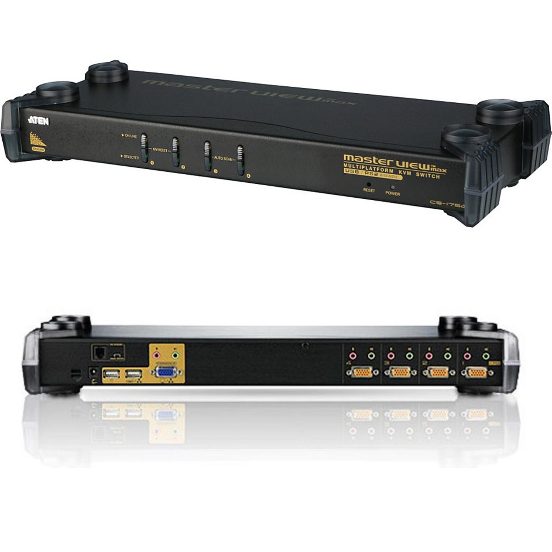 Harga Aten CS1754 Q9 4-Port PS2-USB Switch KVM