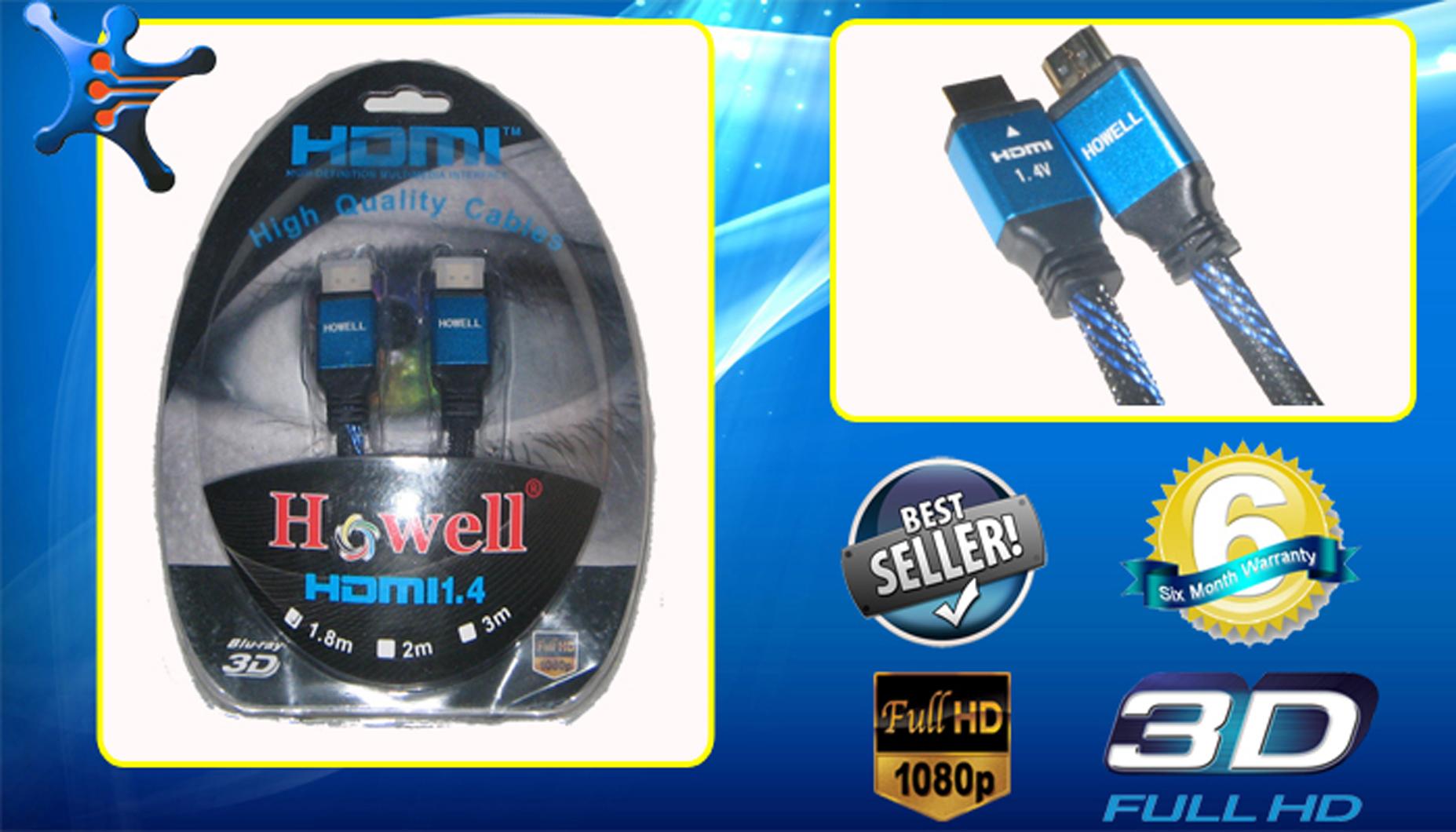 Spesifikasi Kabel HDMI 1.4 Howell 3D 3 Meter