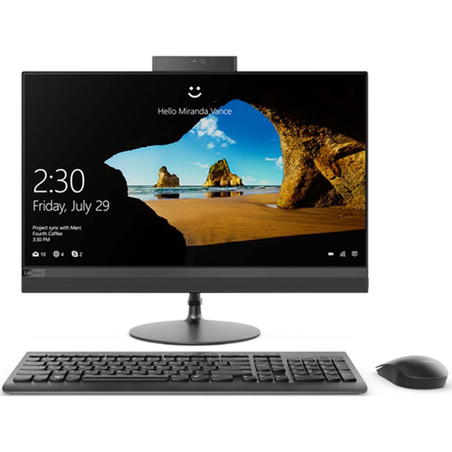 Harga Lenovo IdeaCentre 520-24ICB 0YID All in One i7-8700T 8GB 2TB ATI Radeon 530 2GB Win10 23.8 Inch Black