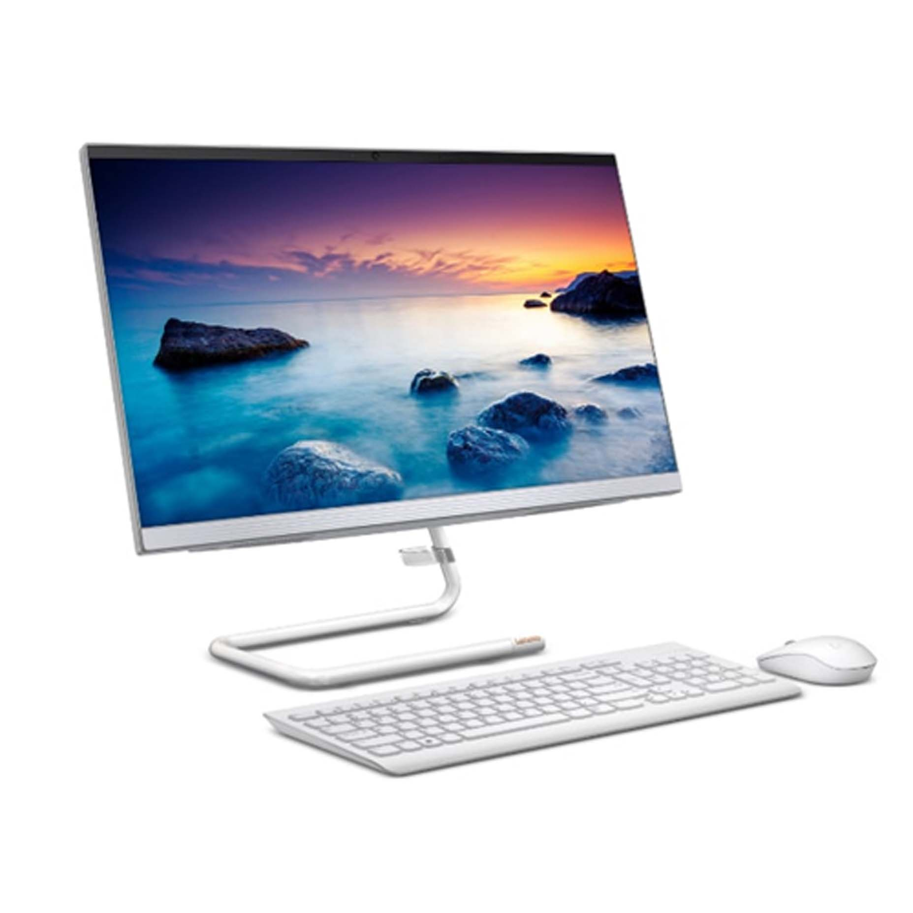 Harga Lenovo IdeaCentre A340-22IWL 0PID All in One i3-8145U 4GB 1TB Integrated DOS 21.5 Inch White