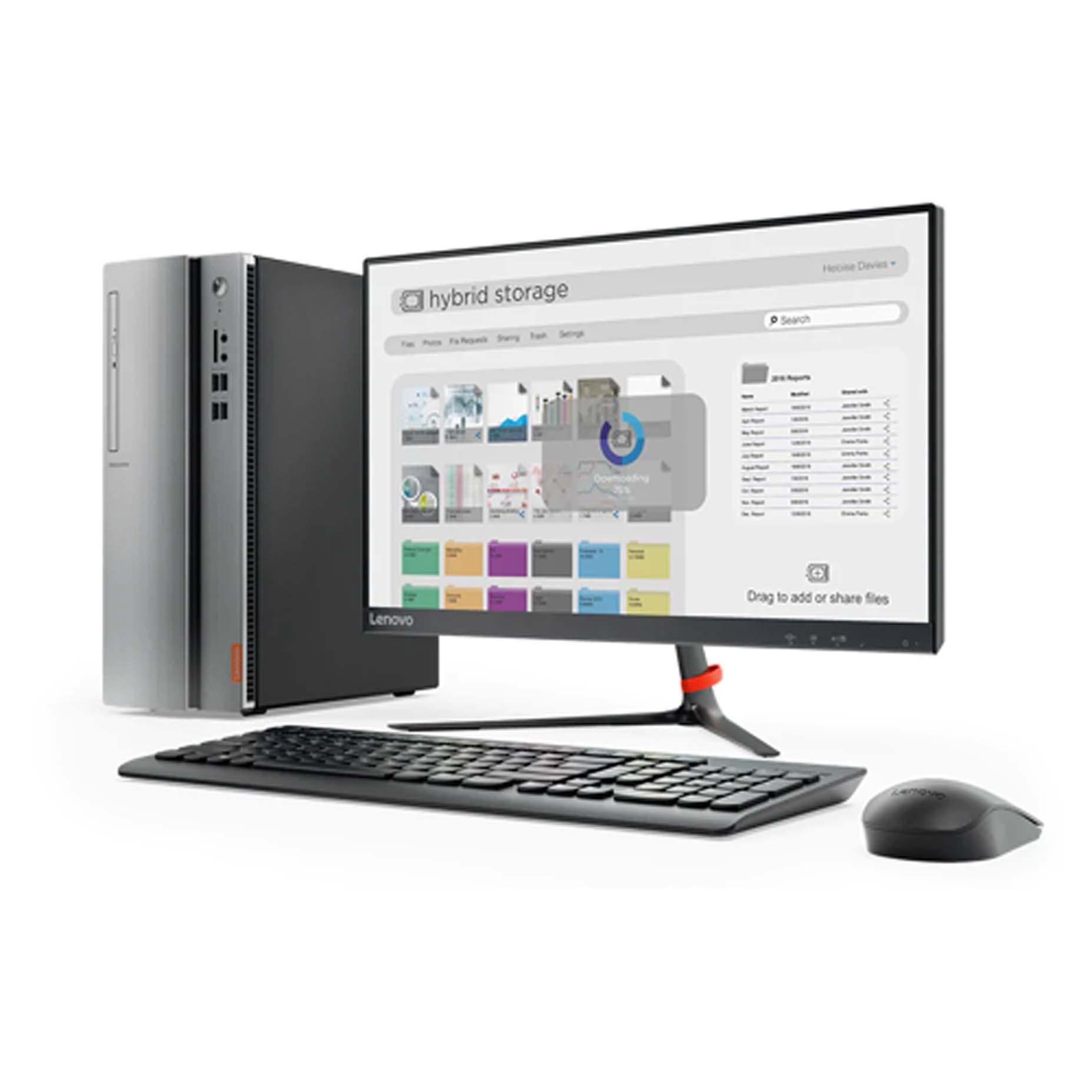 """Harga Lenovo Ideacentre IC510S-08IKL LMID Dekstop PC i3-7100 4GB 1TB GT730 2GB DOS 21.5"""""""